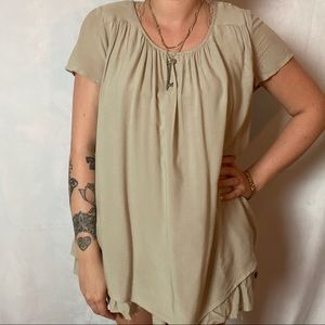 MATILDA JANE NUDE TONE DOUBLE LAYER BABY DOLL TOP